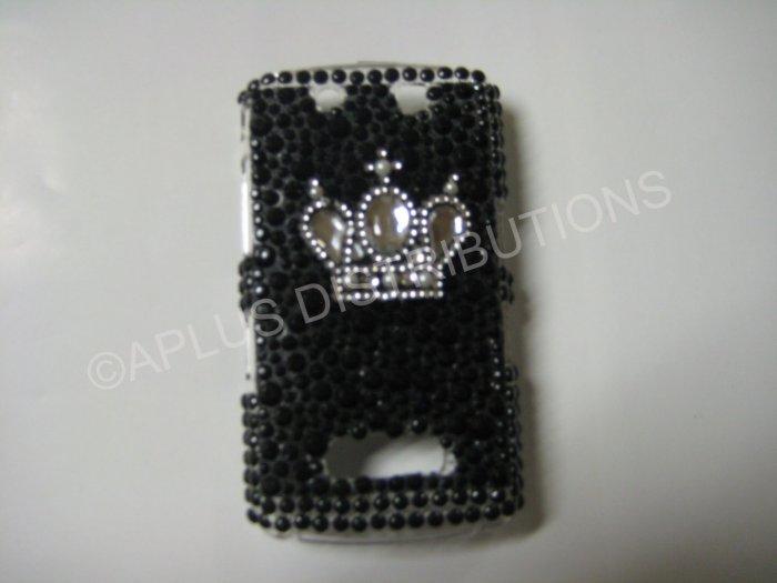 New Black Crown On Jewel Bling Diamond Case For Blackberry 9500 - (0074)