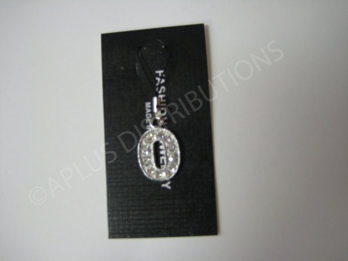 NEW Crystal Cell Phone Charm-  Big Letter �O� Regular