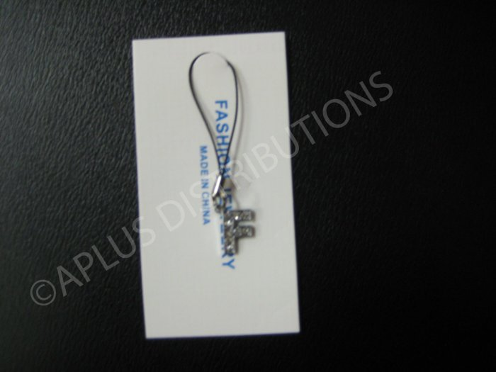 NEW Crystal Cell Phone Charm-  Small Letter �F� Regular