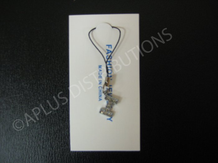 NEW Crystal Cell Phone Charm-  Small Letter �I� Regular