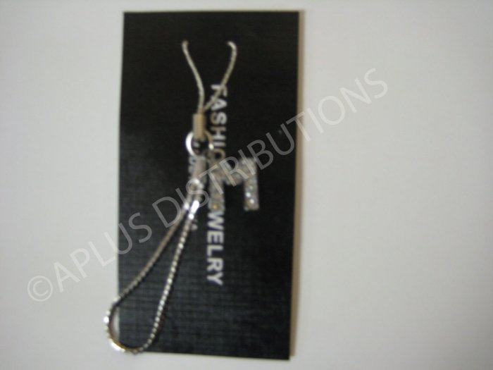 NEW Crystal Cell Phone Charm-  Small Letter �M� Regular