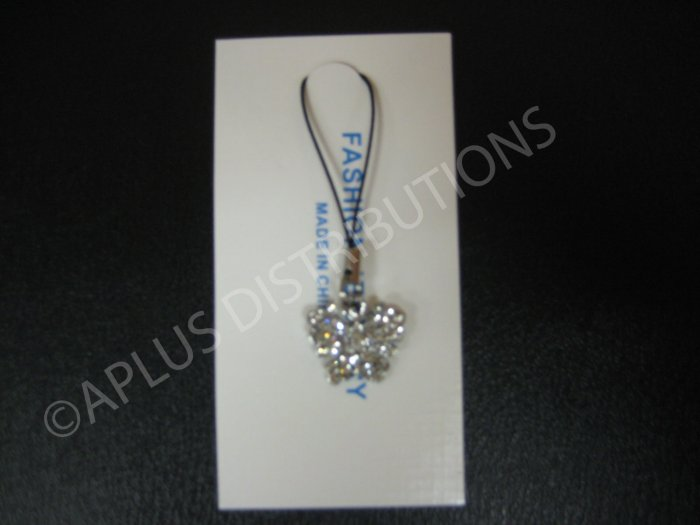 NEW Crystal Cell Phone Charm- Clear Butterfly Mutli-Diamonds