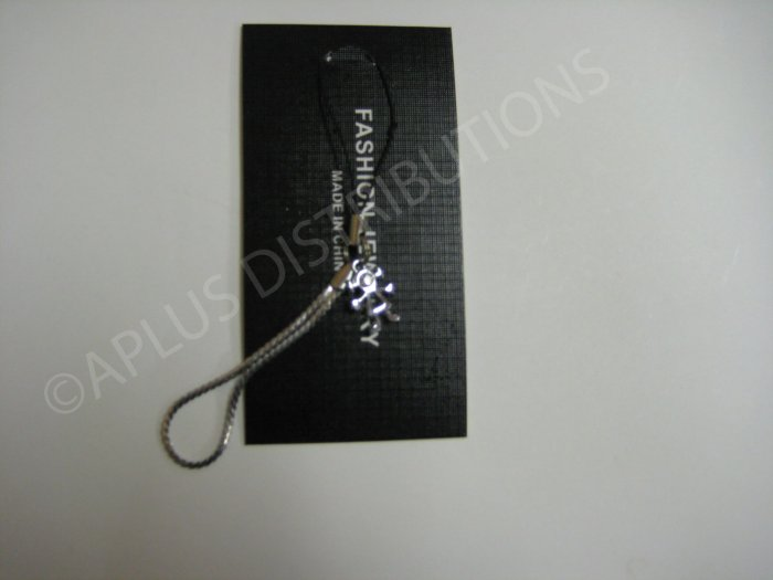 NEW Crystal Cell Phone Charm- Stick Girl