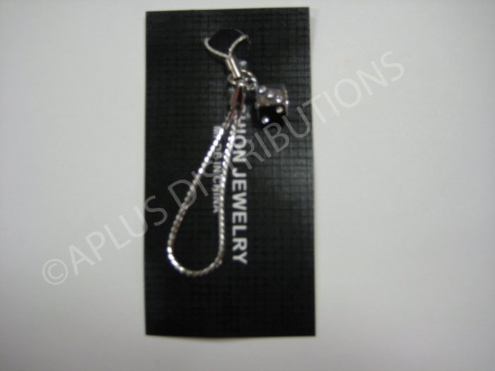 NEW Crystal Cell Phone Charm- Clear Dice