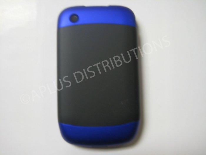 New Dark Blue Rubberized Hard Cover For Blackberry 8520 - (0111)
