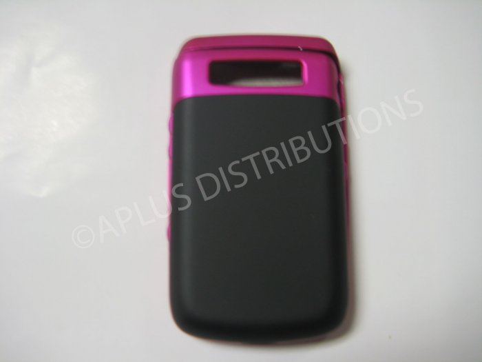 New Hot Pink Rubberized Hard Protective Cover For Blackberry 9700 - (0110)