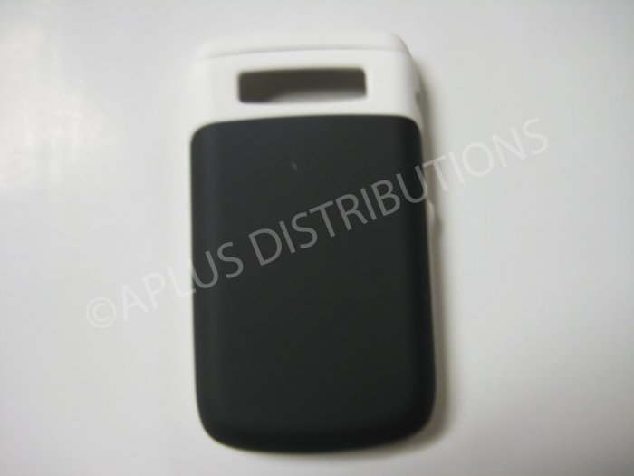 New White Rubberized Hard Protective Cover For Blackberry 9700 - (0125)