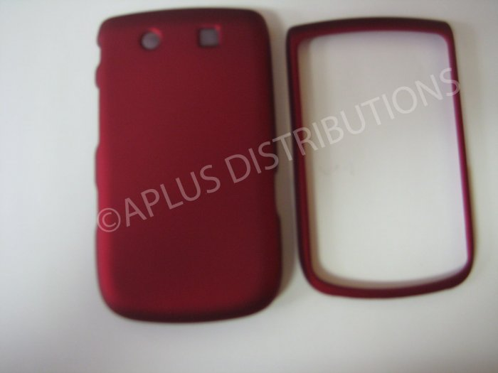 New Red Rubberized Hard Protective Cover For Blackberry 9800 - (0157)