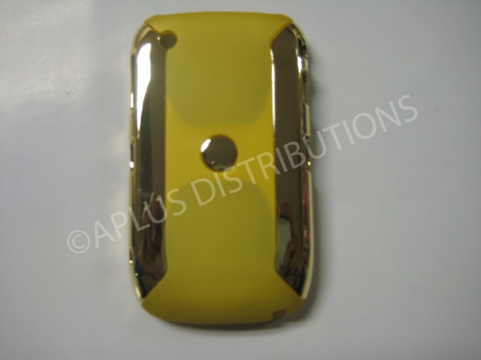 New Yellow Metallic Two Piece Hard Protective Cover For Blackberry 8520 - (0116)