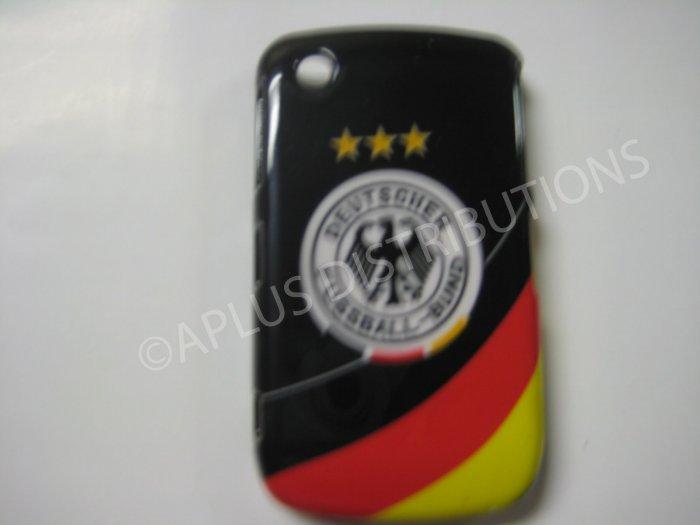 New Black Deutscher Fussball-Bund Design Hard Protective Cover For Blackberry 8520 - (0054)