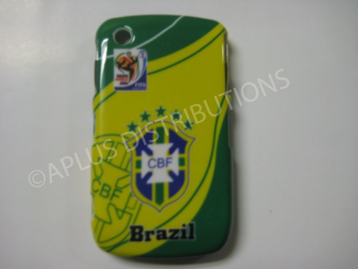 New Green Brazil Cbf Design Hard Protective Cover For Blackberry 8520 - (0051)