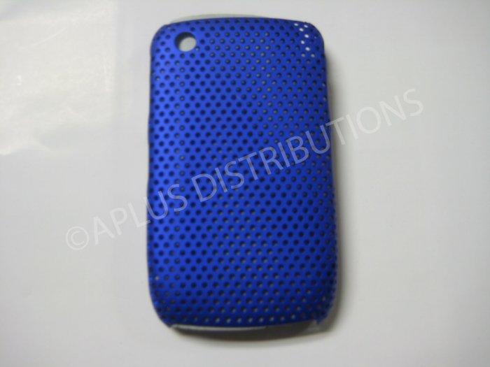 New Dark Blue Lattice Pattern Design Hard Protective Cover For Blackberry 8520 - (0059)