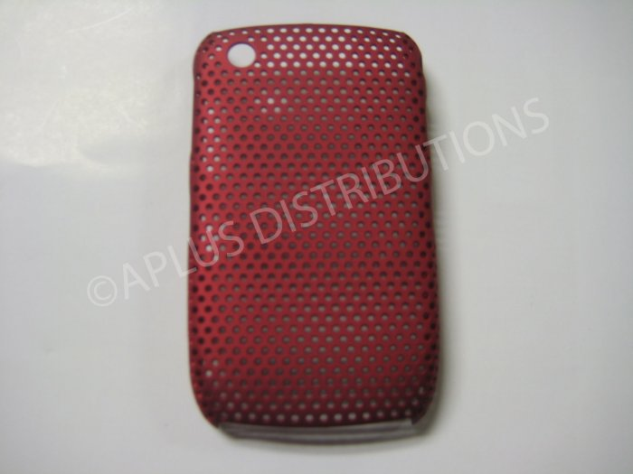 New Red Lattice Pattern Design Hard Protective Cover For Blackberry 8520 - (0058)