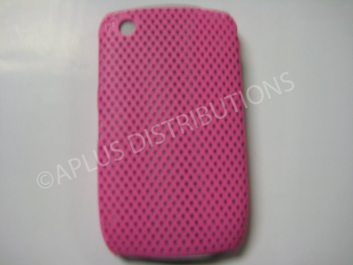 New Pink Lattice Pattern Design Hard Protective Cover For Blackberry 8520 - (0015)