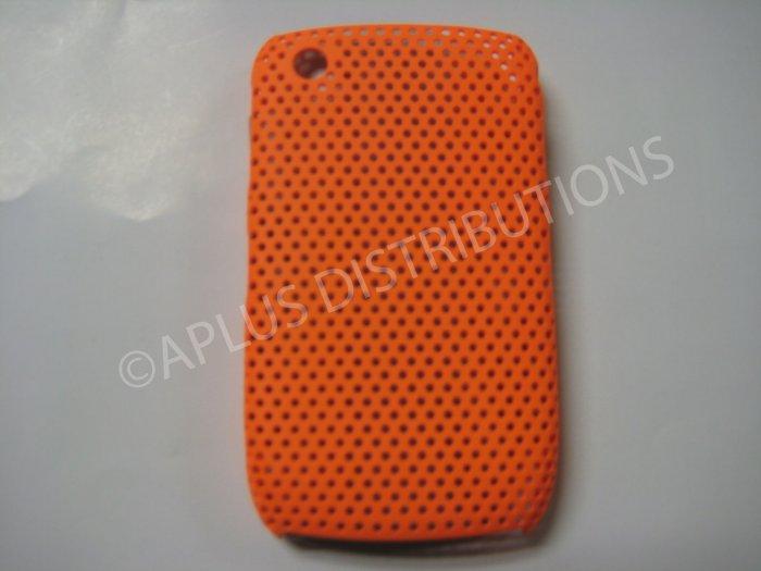 New Orange Lattice Pattern Design Hard Protective Cover For Blackberry 8520 - (0016)