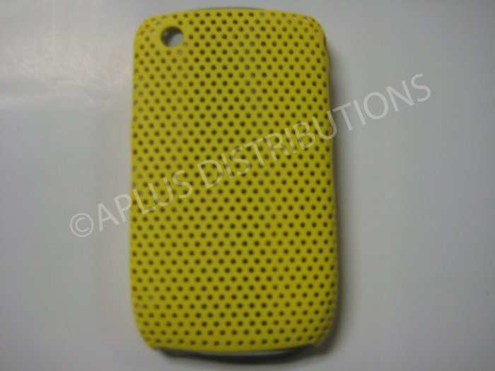 New Yellow Lattice Pattern Design Hard Protective Cover For Blackberry 8520 - (0056)