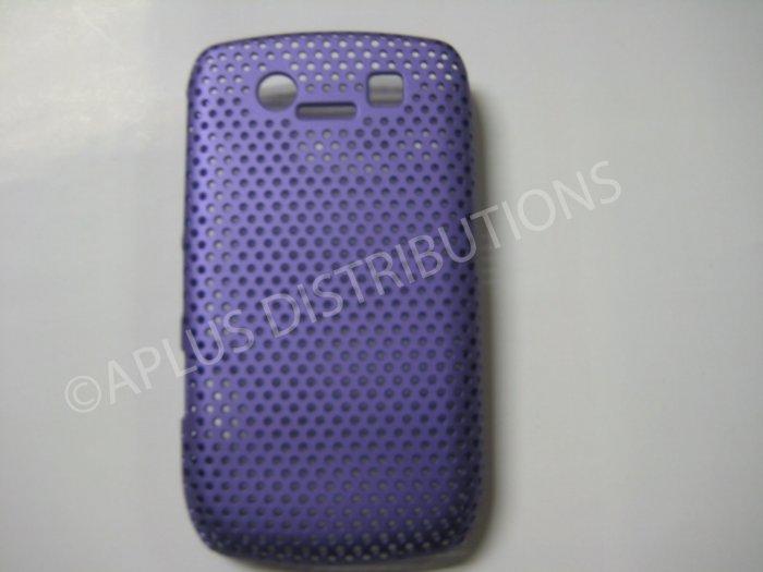 New Purple Lattice Pattern Design Hard Protective Cover For Blackberry 8900 - (0060)