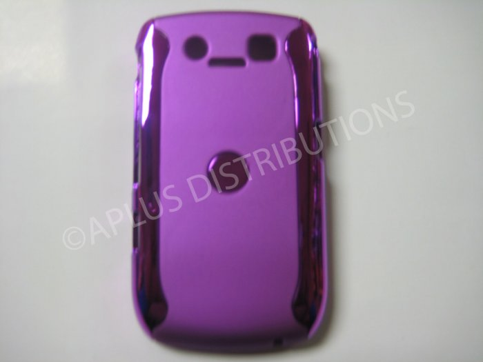 New Pruple Metallic Two Piece Design Hard Protective Cover For Blackberry 8900 - (0120)