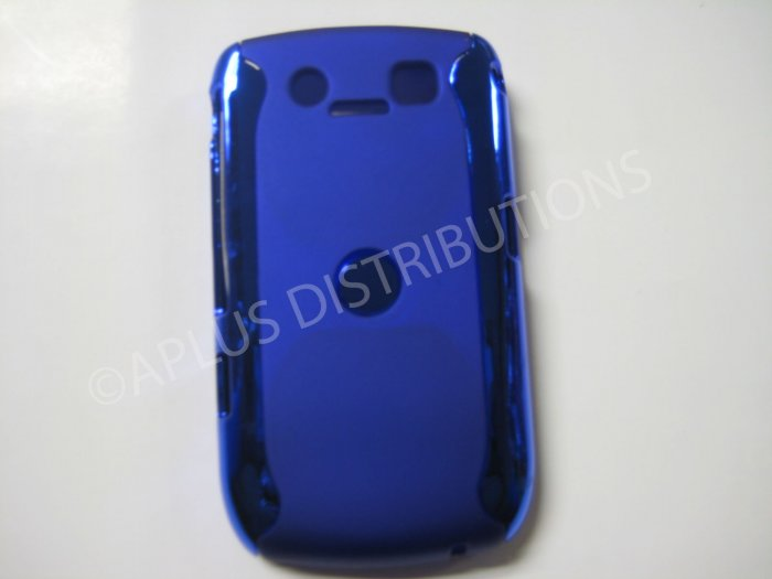 New Blue Metallic Two Piece Design Hard Protective Cover For Blackberry 8900 - (0124)