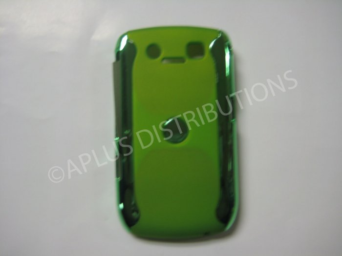 New Green Metallic Two Piece Design Hard Protective Cover For Blackberry 8900 - (0118)