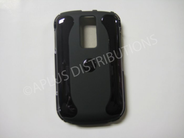 New Black Metallic Two Piece Design Hard Protective Cover For Blackberry 9000 - (0121)