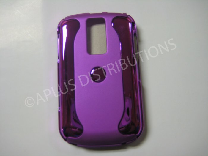 New Purple Metallic Two Piece Design Hard Protective Cover For Blackberry 9000 - (0120)