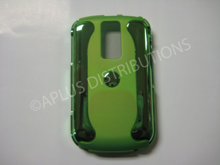 New Green Metallic Two Piece Design Hard Protective Cover For Blackberry 9000 - (0118)