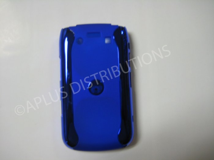 New Blue Metallic Two Piece Design Hard Protective Cover For Blackberry 9700 - (0124)