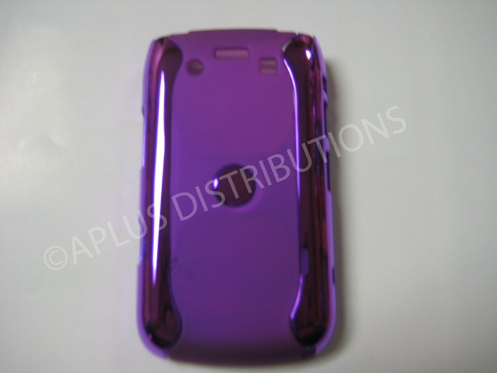 New Purple Metallic Two Piece Design Hard Protective Cover For Blackberry 9700 - (0120)