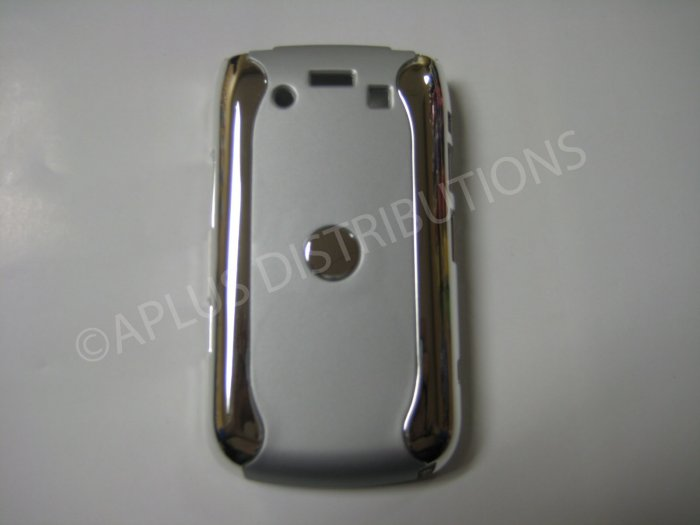 New Silver Metallic Two Piece Design Hard Protective Cover For Blackberry 9700 - (0117)