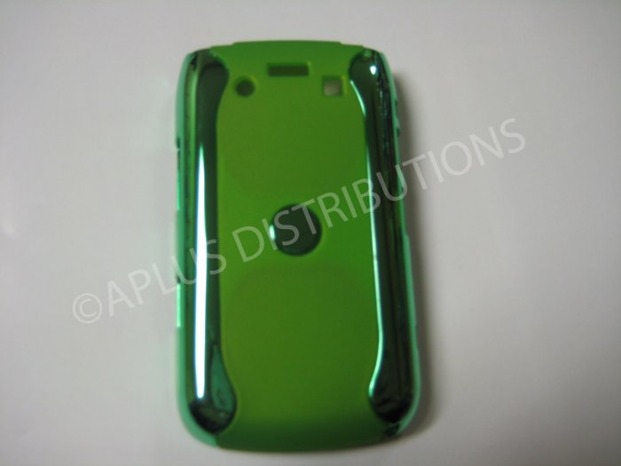 New Green Metallic Two Piece Design Hard Protective Cover For Blackberry 9700 - (0118)