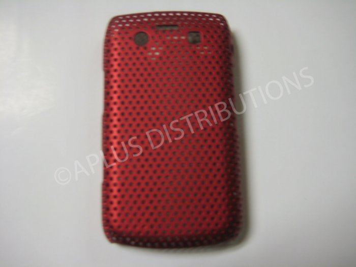 New Red Lattice Pattern Design Hard Protective Cover For Blackberry 9700 - (0058)