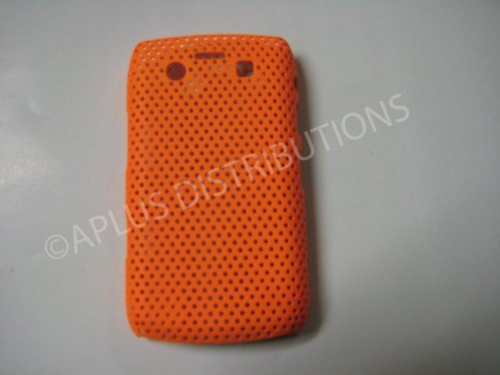 New Orange Lattice Pattern Design Hard Protective Cover For Blackberry 9700 - (0016)
