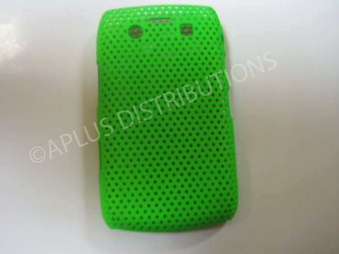 New Green Lattice Pattern Design Hard Protective Cover For Blackberry 9700 - (0055)