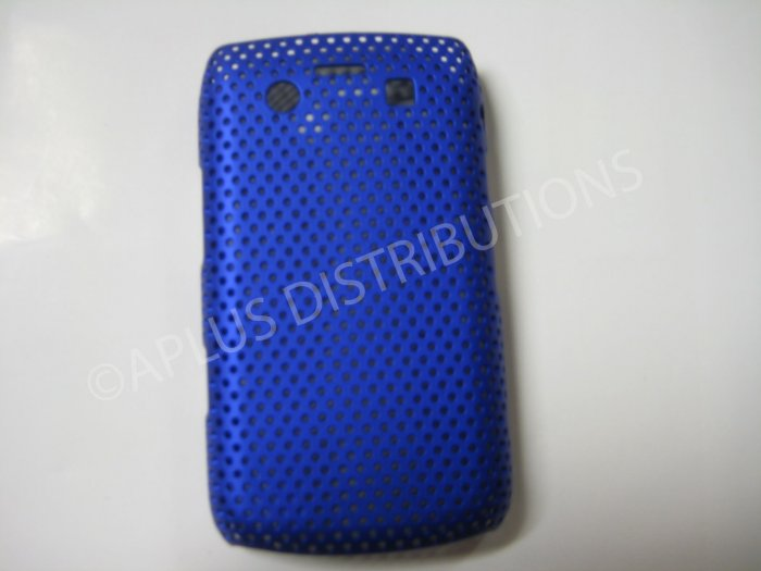 New Dark Blue Lattice Pattern Design Hard Protective Cover For Blackberry 9700 - (0059)