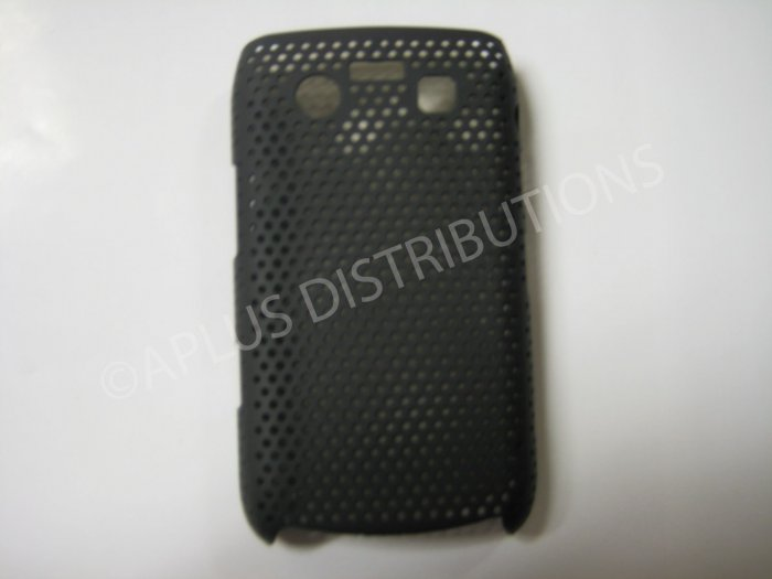 New Black Lattice Pattern Design Hard Protective Cover For Blackberry 9700 - (0014)
