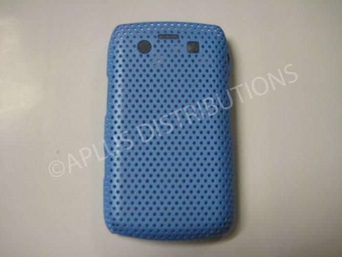 New Sky Blue Lattice Pattern Design Hard Protective Cover For Blackberry 9700 - (0057)