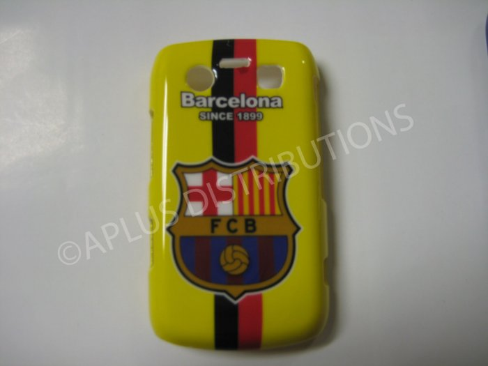 New Yellow Barcelona Fcb Design Hard Protective Cover For Blackberry 9700 - (0064)