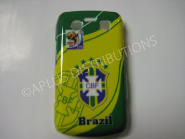 New Green Brazil Cbf Design Hard Protective Cover For Blackberry 9700 - (0051)