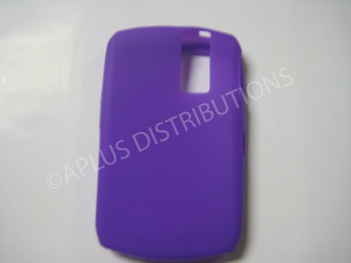 New Purple Solid Color Silicone Cover For Blackberry 8300 - (0151)