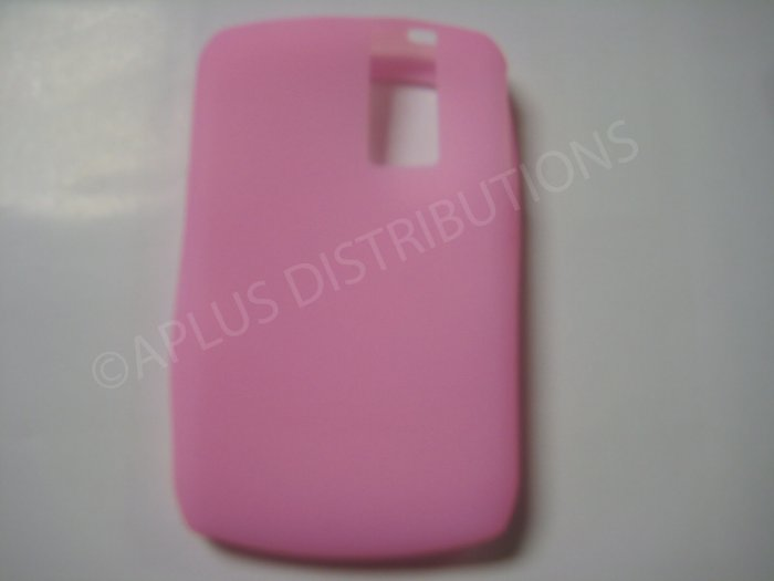 New Pink Solid Color Silicone Cover For Blackberry 8300 - (0153)