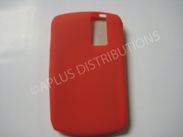 New Red Solid Color Silicone Cover For Blackberry 8300 - (0155)