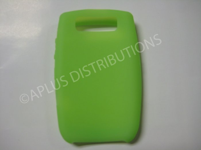 New Lime Green Solid Color Silicone Cover For Blackberry 8900 - (0188)