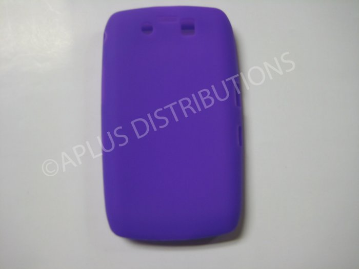 New Purple Solid Color Silicone Cover For Blackberry 9500 - (0151)