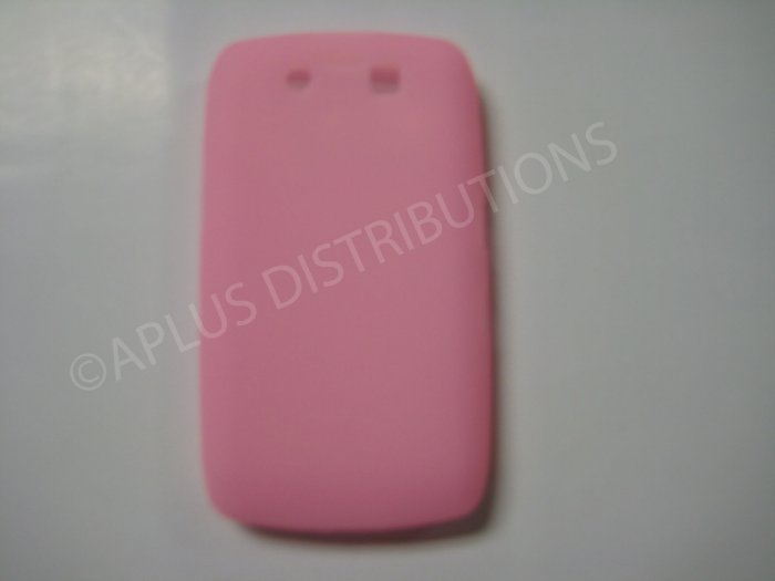 New Pink Solid Color Silicone Cover For Blackberry 9500 - (0153)