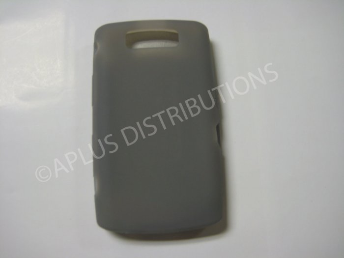 New Smoke Solid Color Silicone Cover For Blackberry 9550 - (0156)