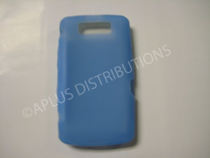 New Light Blue Solid Color Silicone Cover For Blackberry 9550 - (0191)