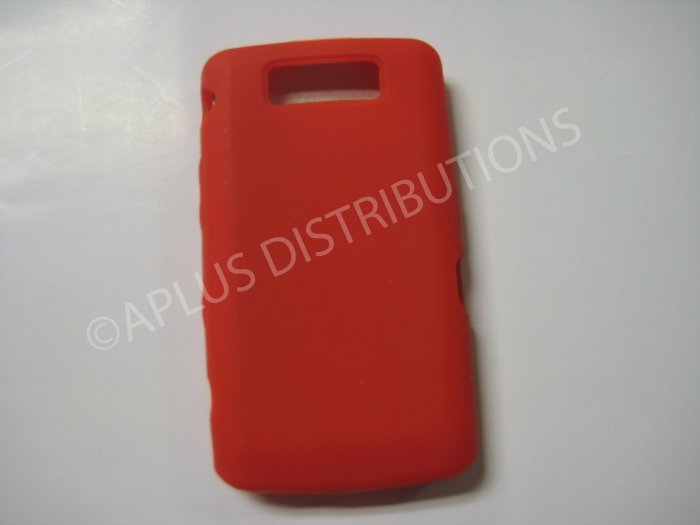 New Red Solid Color Silicone Cover For Blackberry 9550 - (0155)