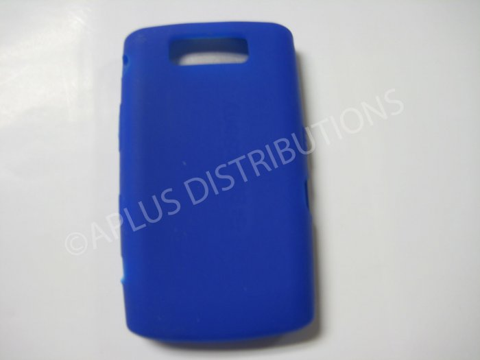 New Dark Blue Solid Color Silicone Cover For Blackberry 9550 - (0154)