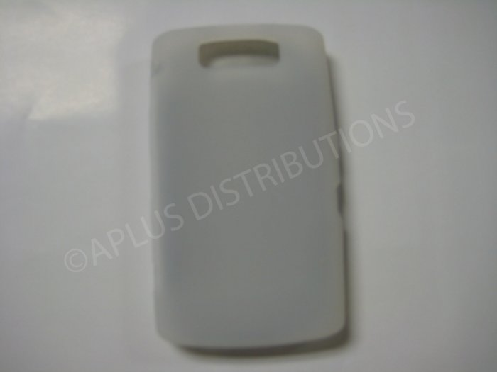 New Clear Solid Color Silicone Cover For Blackberry 9550 - (0152)